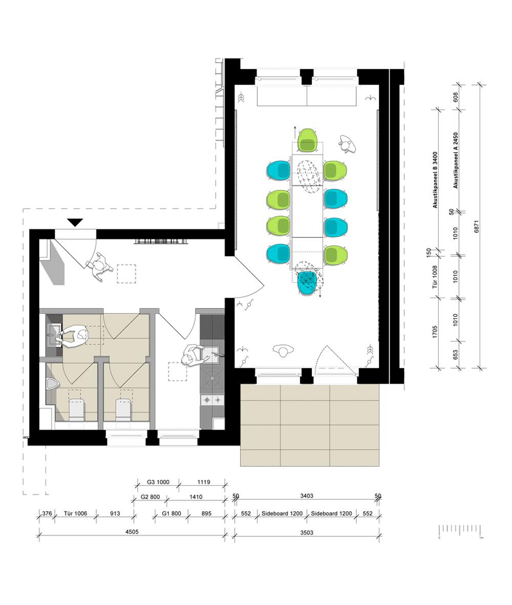 Grundriss der Begegnungsstätte Charlottenstraße