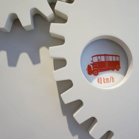 Kinderstation Zahnräder im Museum im Storchen, Göppingen