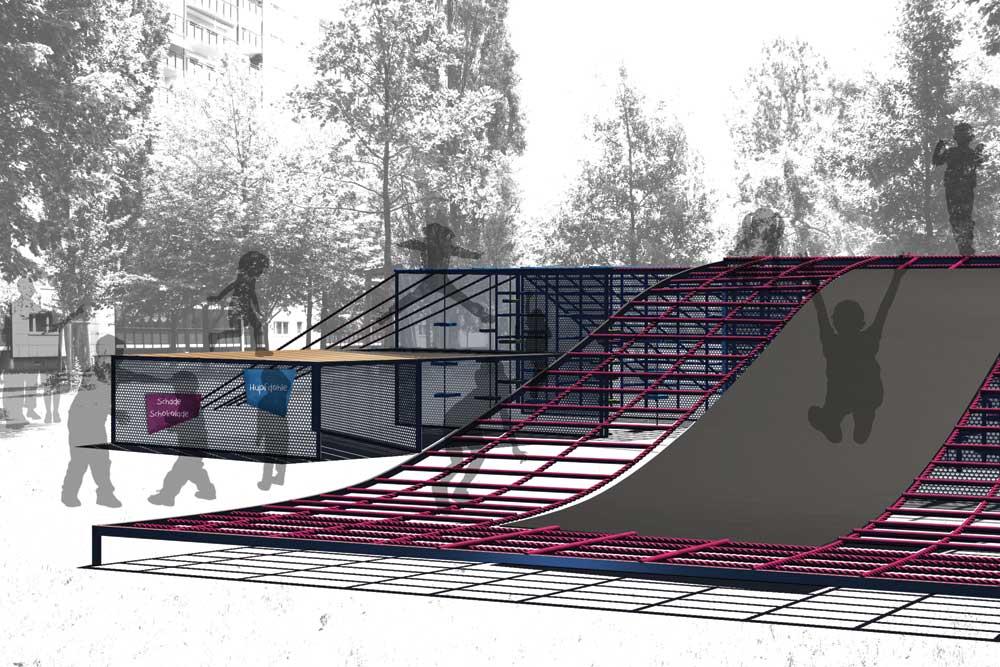 Spielplatzmodule der Kiezoase, Master-Projekt an der UdK