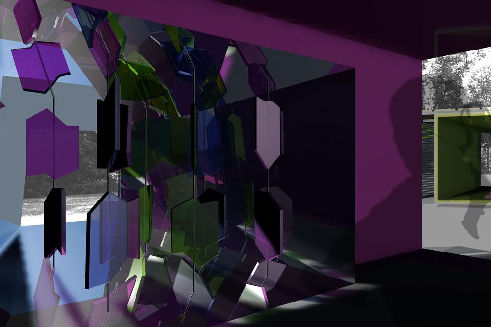 Kaleidoskop von innen, Master-Projekt Kiezoase an der UdK