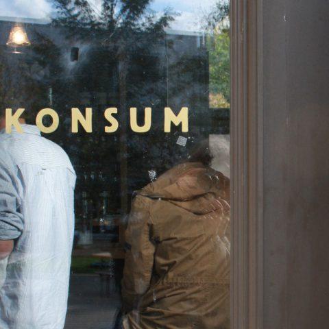 Eingang des Café Konsum, Design Campus der Burg Giebichenstein Hochschule für Kunst und Design